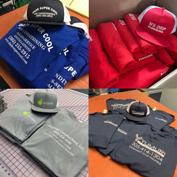Custom Hats and Shirts